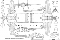 de havilland dh100 vampire fb9 model airplane plan
