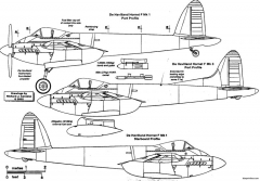 de havilland dh103 hornet model airplane plan