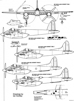 de havilland dh103 hornet 2 model airplane plan