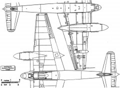 de havilland dh103 hornet 4 model airplane plan