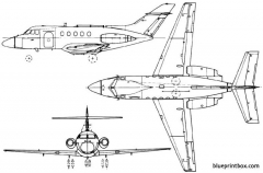 de havilland dh125  hawker siddeley hs125  bae 125 1962 england model airplane plan