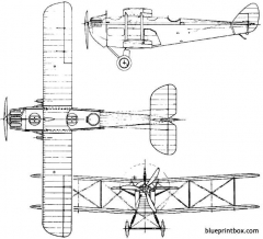 de havilland dh18 1920 england model airplane plan