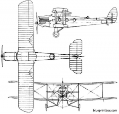 de havilland dh27 derby 1922 england model airplane plan