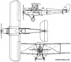 de havilland dh37 1922 england model airplane plan