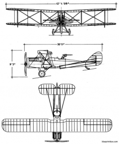 de havilland dh4b model airplane plan