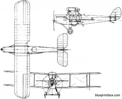 de havilland dh50 1923 england model airplane plan