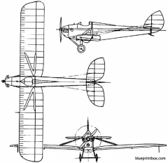 de havilland dh53 humming bird 1923 england model airplane plan