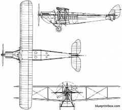 de havilland dh54 highclere 1924 england model airplane plan