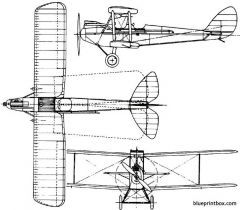 de havilland dh60 moth 1925 england model airplane plan