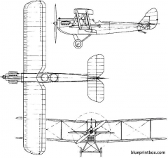 de havilland dh65 hound 1926 england model airplane plan