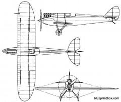de havilland dh71 tiger moth 1927 england model airplane plan