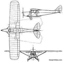 de havilland dh80 puss moth 1929 england model airplane plan