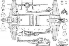 de havilland dh 100 vampire model airplane plan