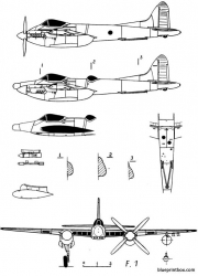 de havilland dh 103 hornet 2 model airplane plan