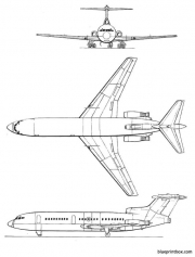 de havilland dh 121trident model airplane plan