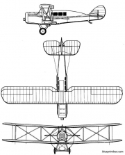 de havilland dh 16 model airplane plan