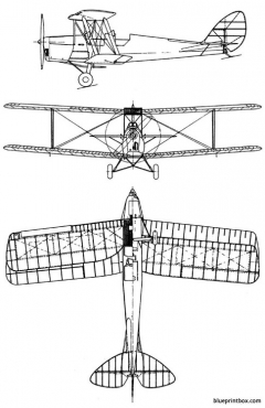 de havilland dh 82 tiger moth model airplane plan