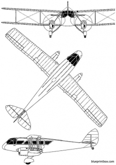 de havilland dh 84 dragon model airplane plan