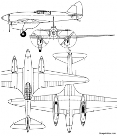 de havilland dh 88 comet model airplane plan
