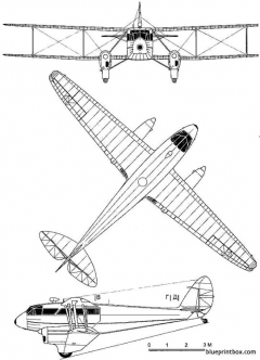 de havilland dh 89 dragon rapide model airplane plan