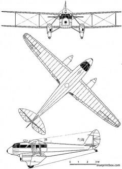 de havilland dh 89 dragon rapide model airplane plan