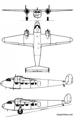 de havilland dh 95 flamingo model airplane plan
