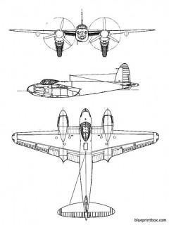 de havilland dh 98 mosquito model airplane plan