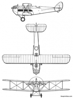 dehavilland dh 18 model airplane plan