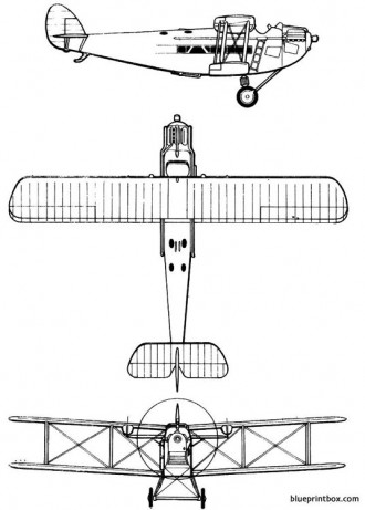 dehavilland dh 34 model airplane plan