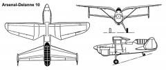 delanne10 3v model airplane plan