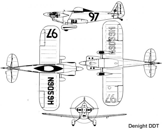 denight 3v model airplane plan