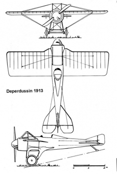 deperdussin1913 3v model airplane plan