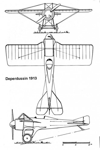 deperdussin1913 3v model airplane plan