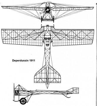 deperdussin 3v model airplane plan