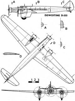 dewoitine333 3v model airplane plan
