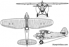 dewoitine d 27 1928 france model airplane plan