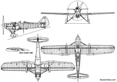 dewoitine d 500 model airplane plan
