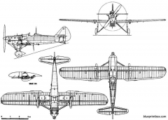 dewoitine d 501 model airplane plan