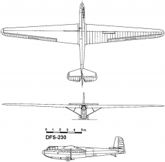 dfs230 3v model airplane plan