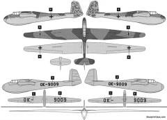 dfs kranich ii sailplane model airplane plan