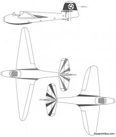 dfs stummel habicht sailplane model airplane plan