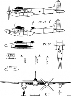 dh103 hornet model airplane plan
