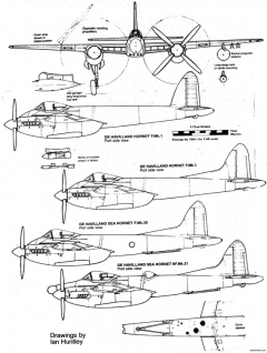 dh103 hornet 2 model airplane plan