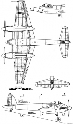 dh103 hornet 3 model airplane plan