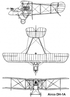dh1a 3v model airplane plan