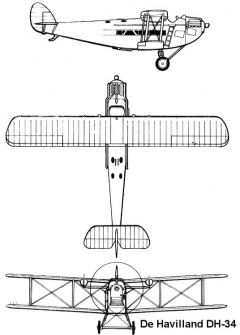 dh34 3v model airplane plan