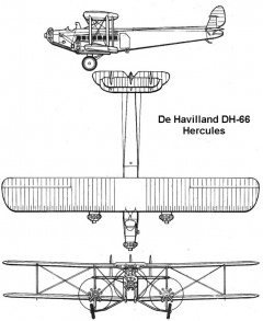 dh66 3v model airplane plan