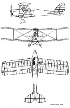 dh82 3v model airplane plan