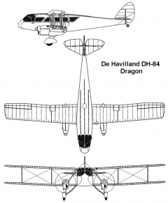 dh84 3v model airplane plan