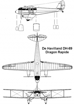 dh89 3v model airplane plan